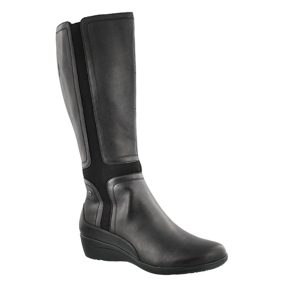 Lds Mzia Oleena blk wtpf riding boot