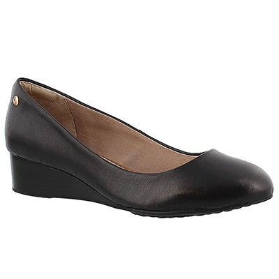 Lds Dot Admire black wedge dress shoe