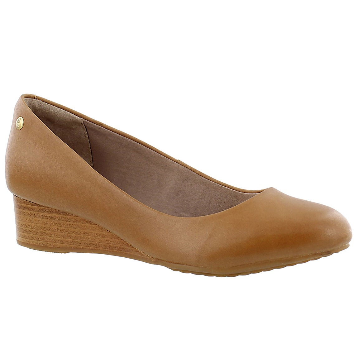 Women's DOT ADMIRE tan wedge dress shoes