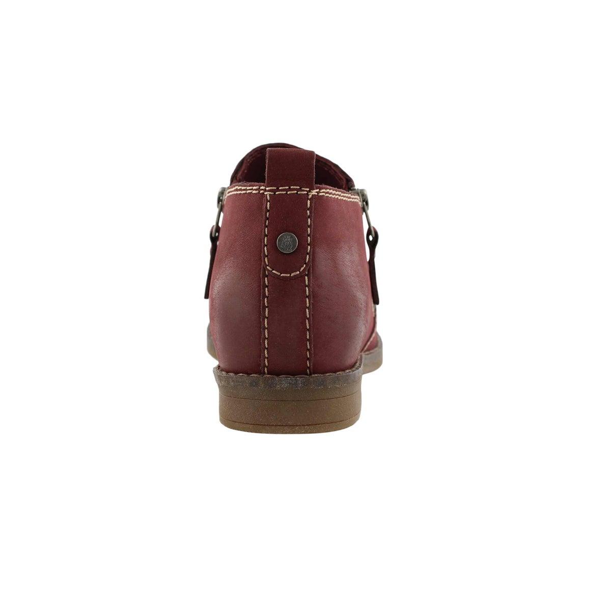 Lds Mazin Cayto wine zip up casual boot