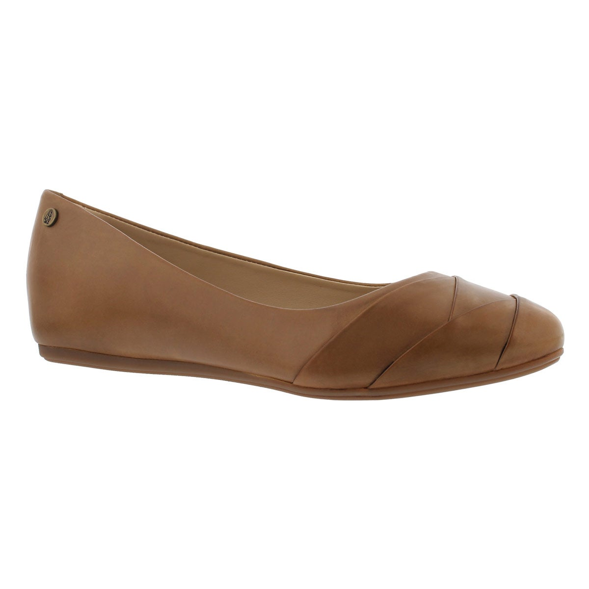 Women's HEIDI HEATHER cognac leather flats