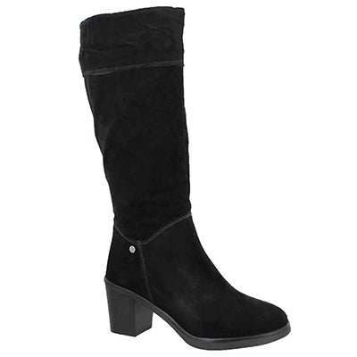 Lds Saun Olivya black high dress boot