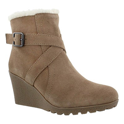 Hush Puppies Women's AMBER MILES IIV cml waterproof wdg booties