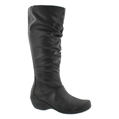 Hush Puppies Women's IVA KANA IIV black tall boots
