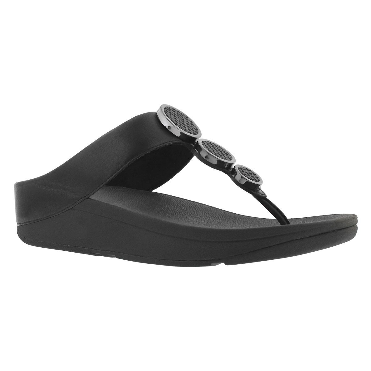 Women's HALO TOE black thong sandal