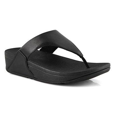 Lds Lulu Toepost black thong sandal