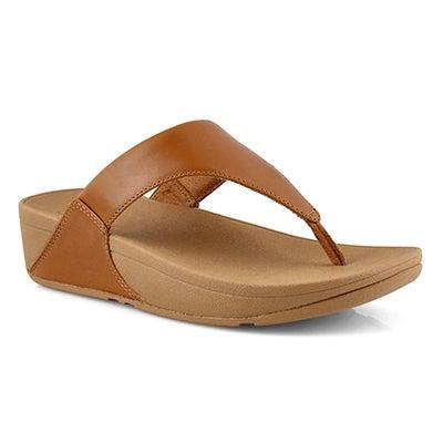 Lds Lulu Toepost lt tan thong sandal