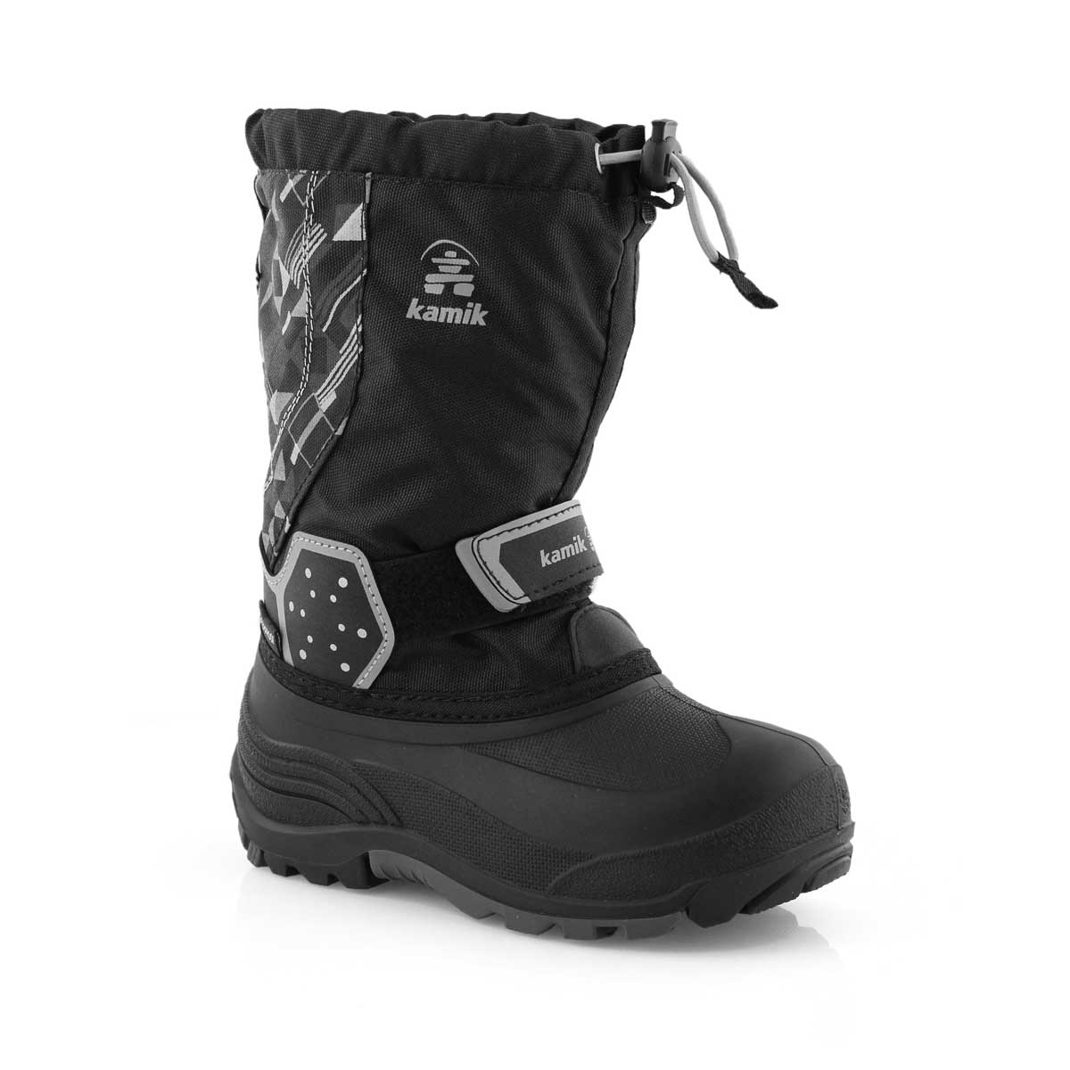 Bys IcetrackP blk/char wtpf winter boot