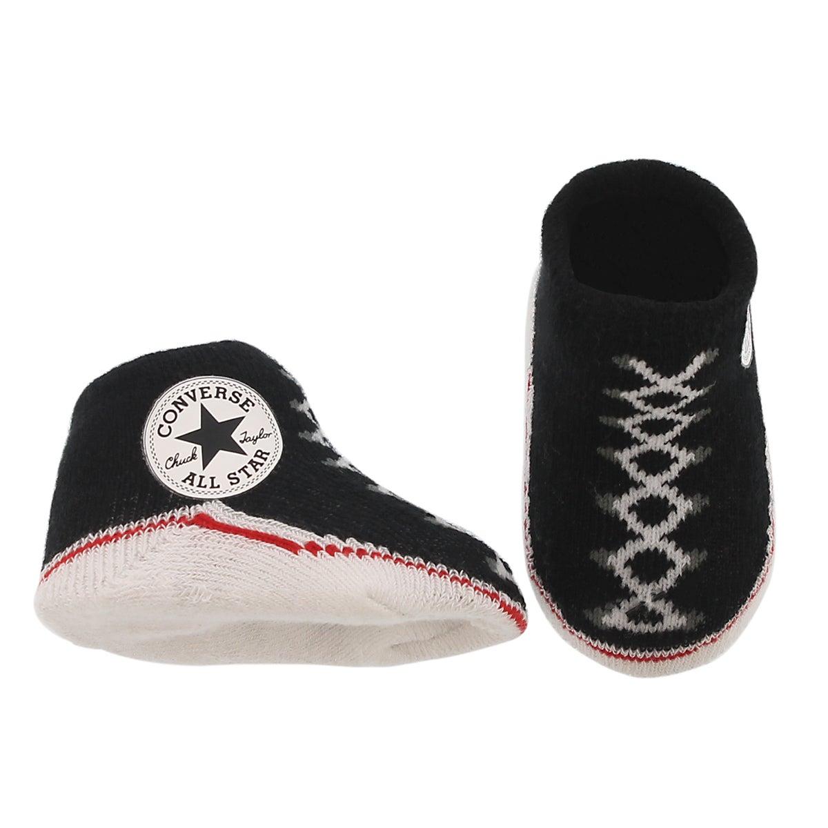 Tuque et chaussons CONVERSE, noir, bébés