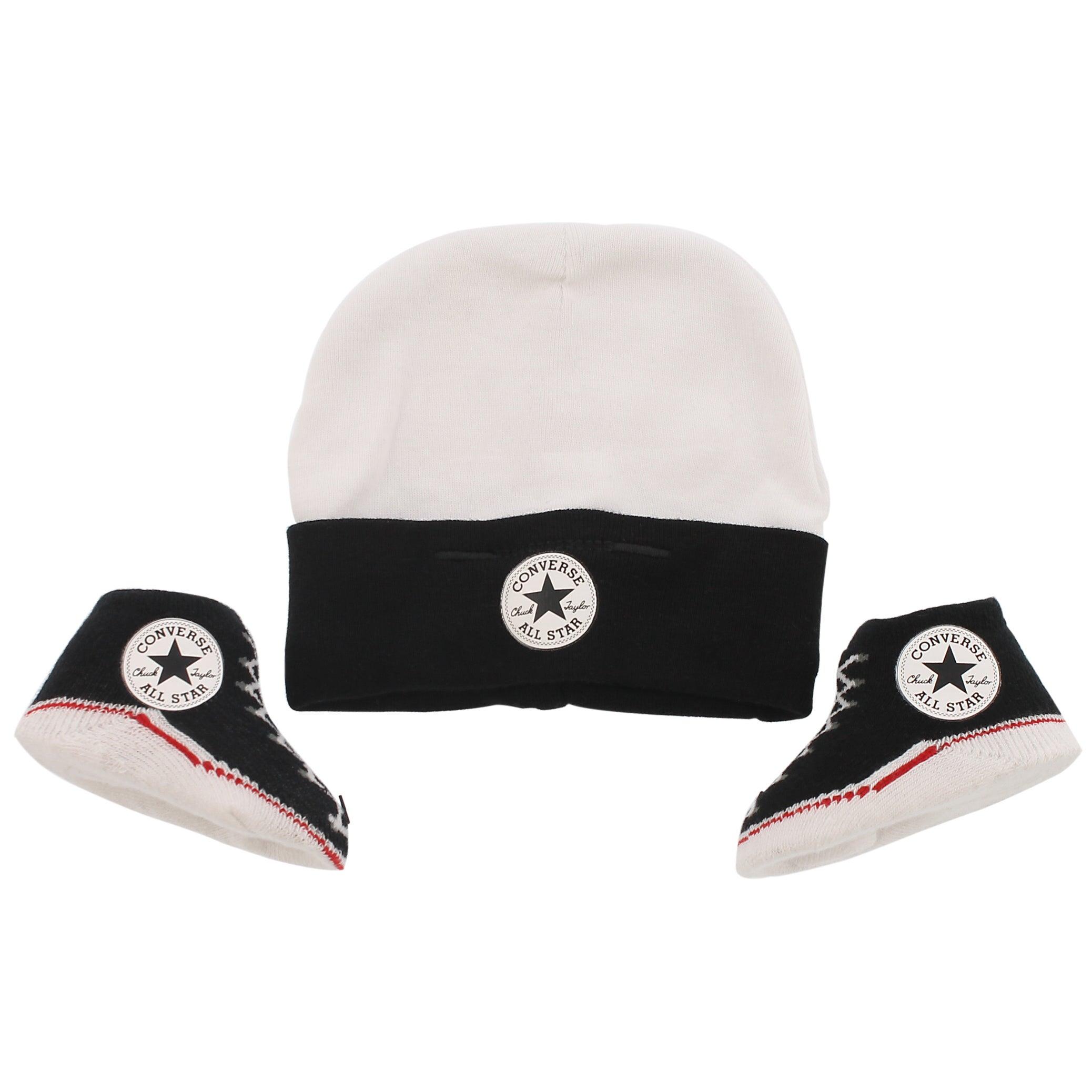 Infants' CONVERSE black hat & bootie combo