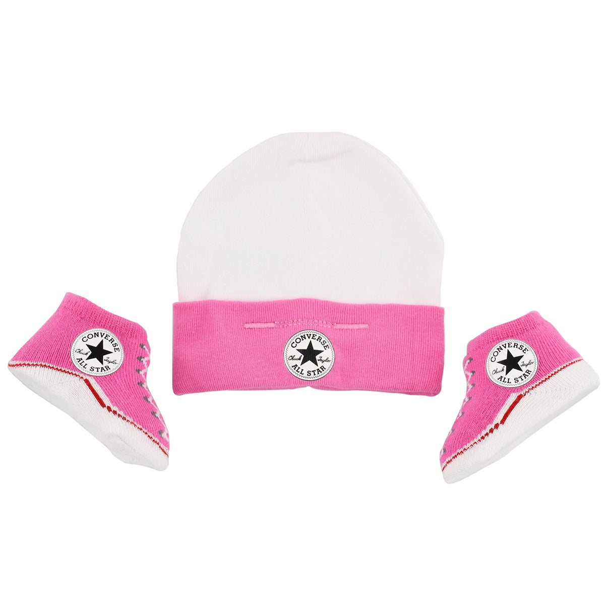 Infs Converse pink hat and bootie combo