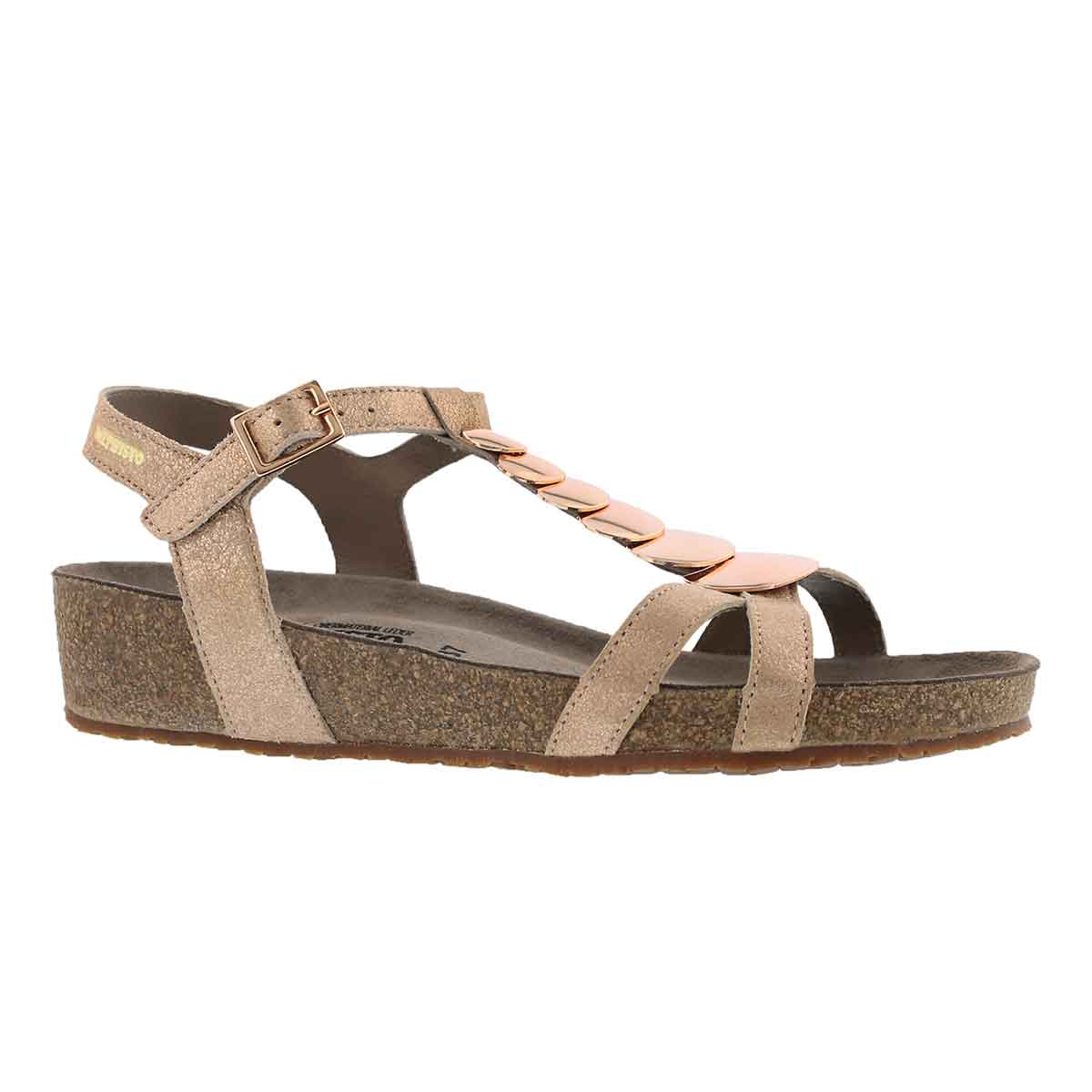 Women's IRMA taupe wedge cork footbed sandals