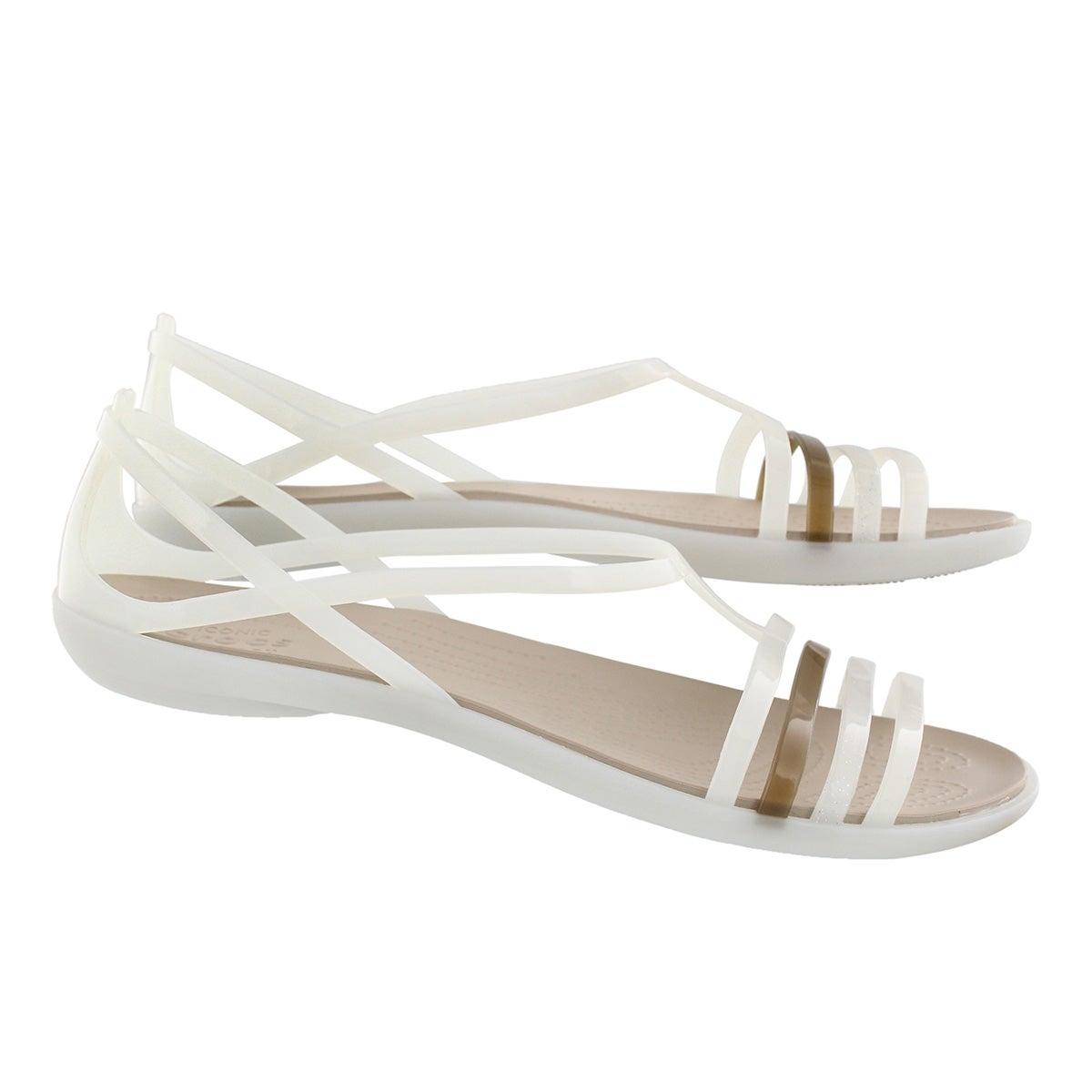 Lds Isabella oyster/walnut sandal