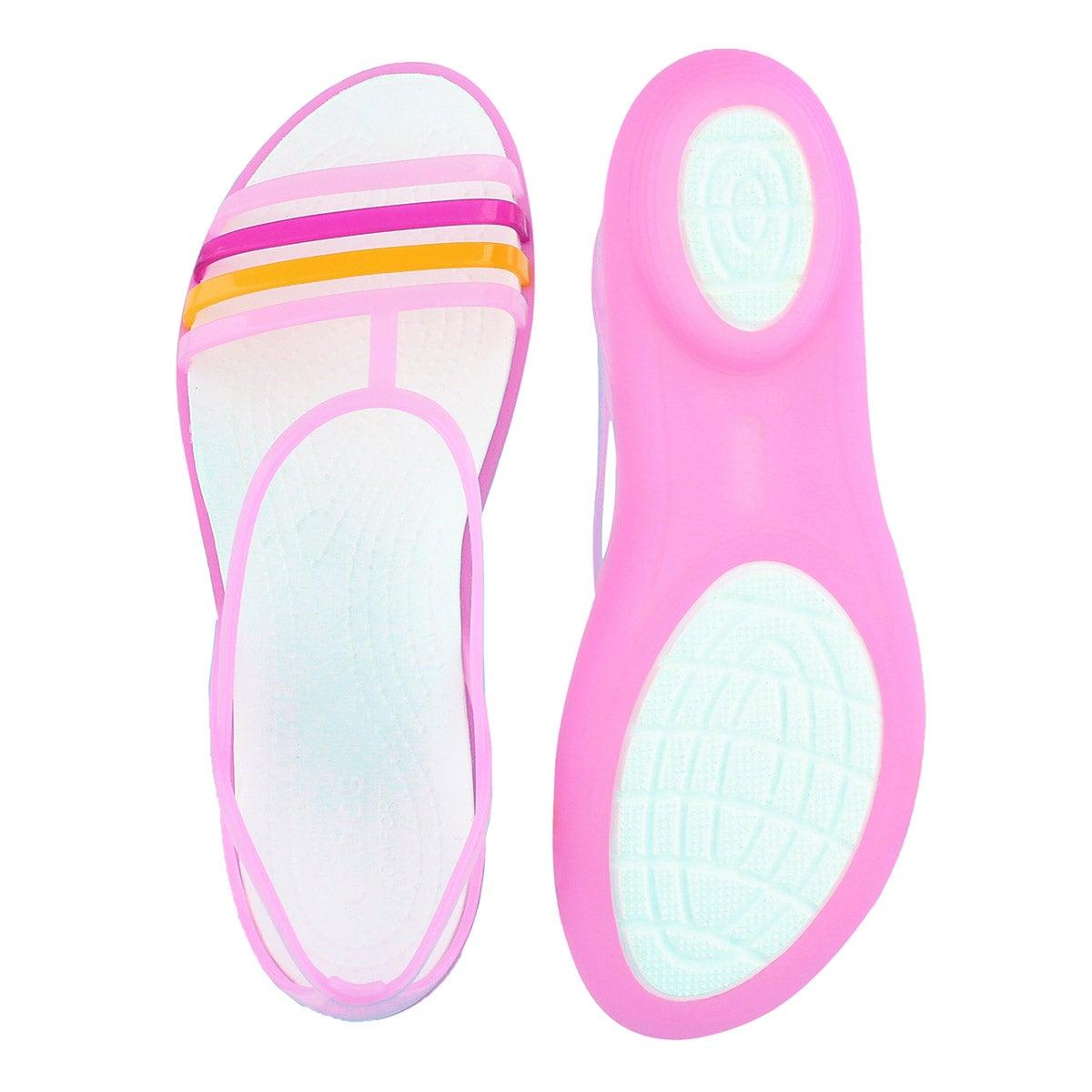 Lds Isabella carnation/white sandal