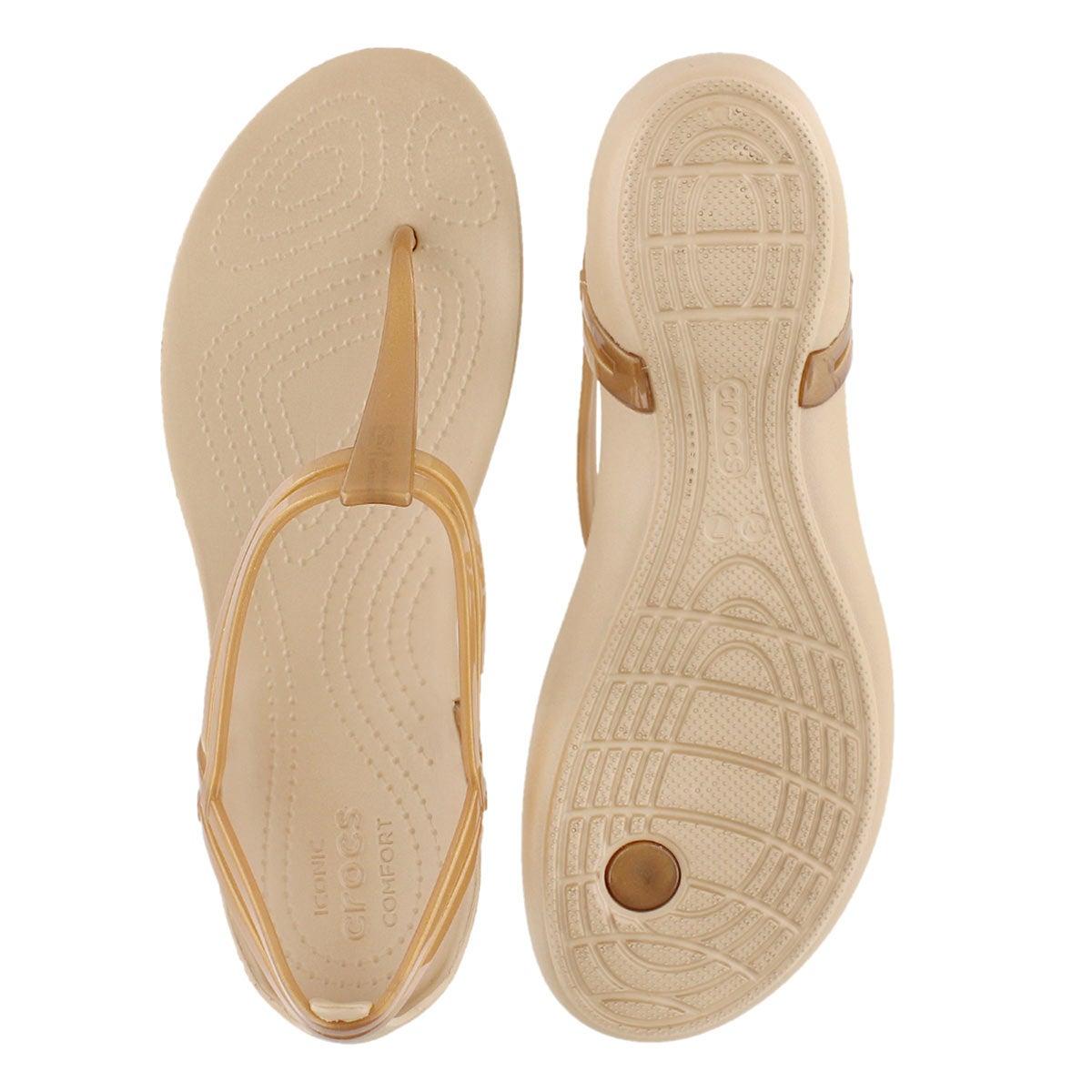 Sandale tong Isabella T-Strap, brze, fem
