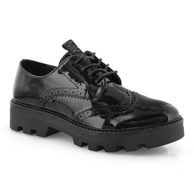 Lds Itza black vegan casual oxford