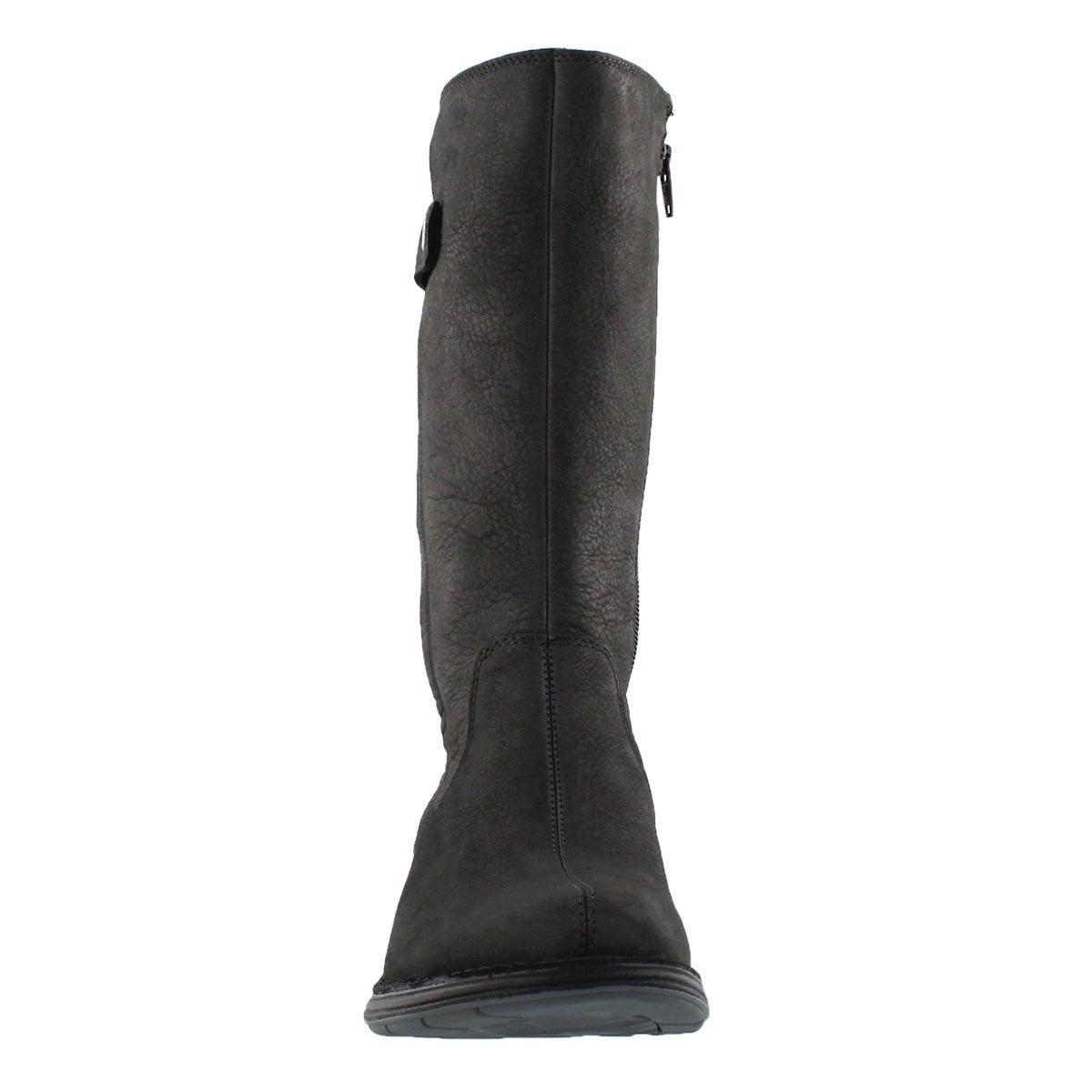 Lds Travvy Tall blk wtpf mid-calf boot