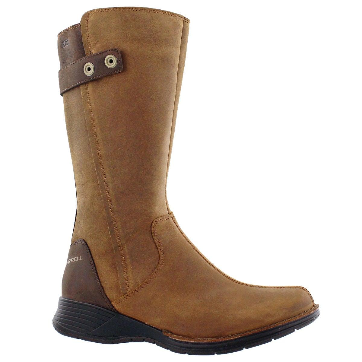 Lds Travvy Tall tan wtpf mid-calf boot