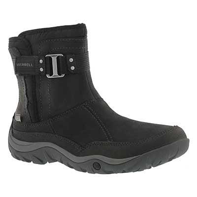 Lds Murren Strap wtpf blk winter boot