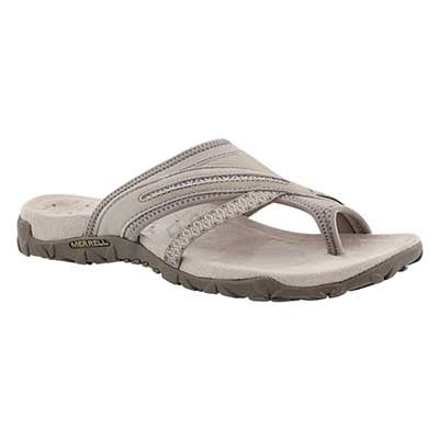 Lds Terran Post II taupe toe wrap sandal