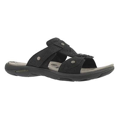 Merrell Women's ADHERA SLIDE black casual slide sandals