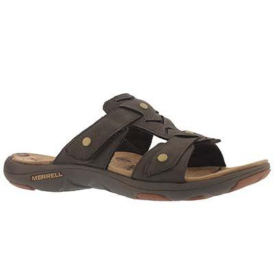 Merrell Women's ADHERA SLIDE brown casual slide sandals