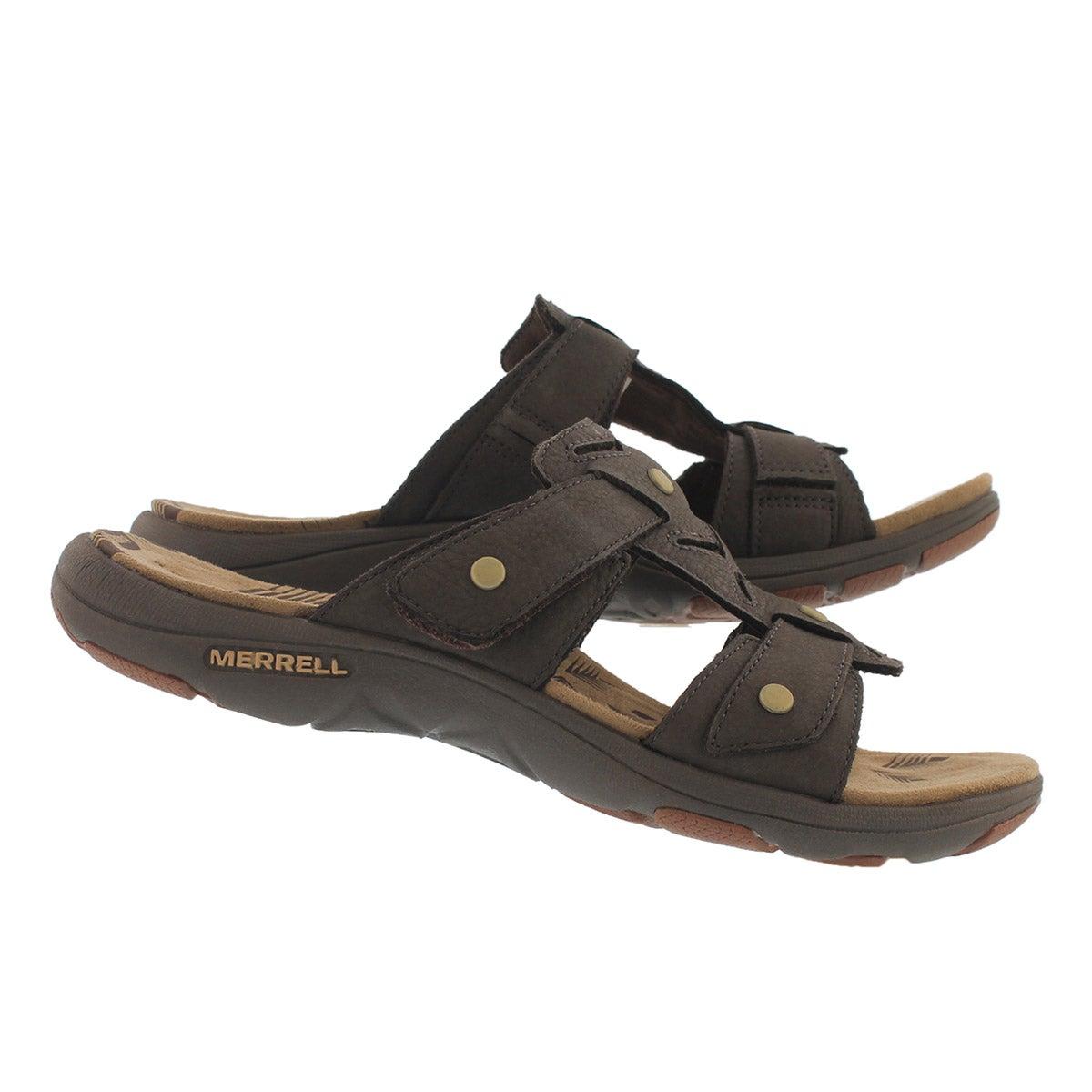Lds Adhera Slide brn casual slide sandal