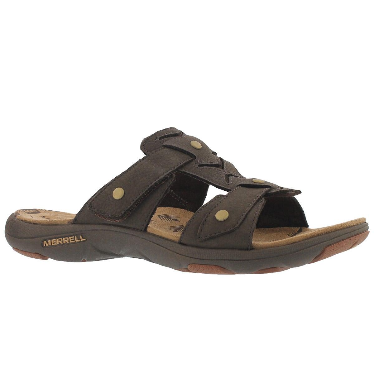 Women's ADHERA SLIDE brown casual slide sandals