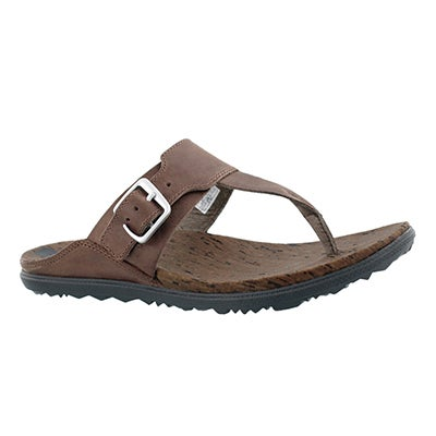 Lds Around Town Post brn thong sandal