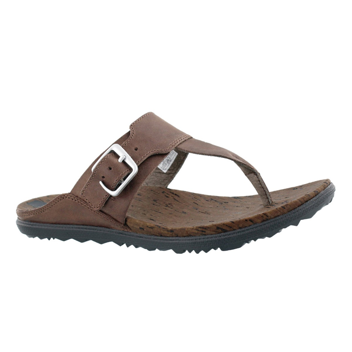 Women`s AROUND TOWN POST brown thong sandals