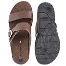 Lds Around Town Buckle brn slide sandal
