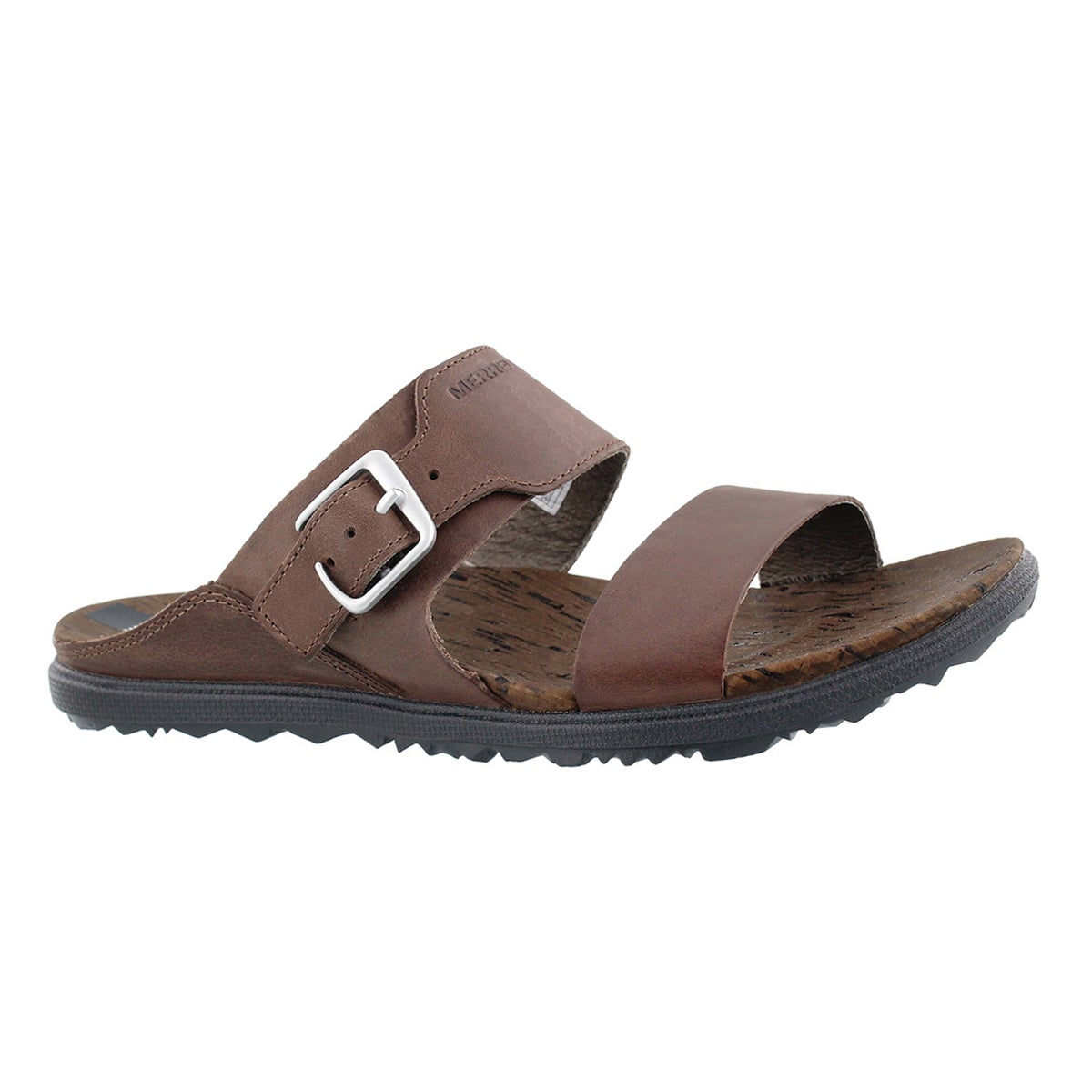 Women's AROUND TOWN BUCKLE brn buckle slide sandal