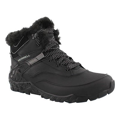 Merrell Women's AURORA 6 ICE black waterproof winter boots