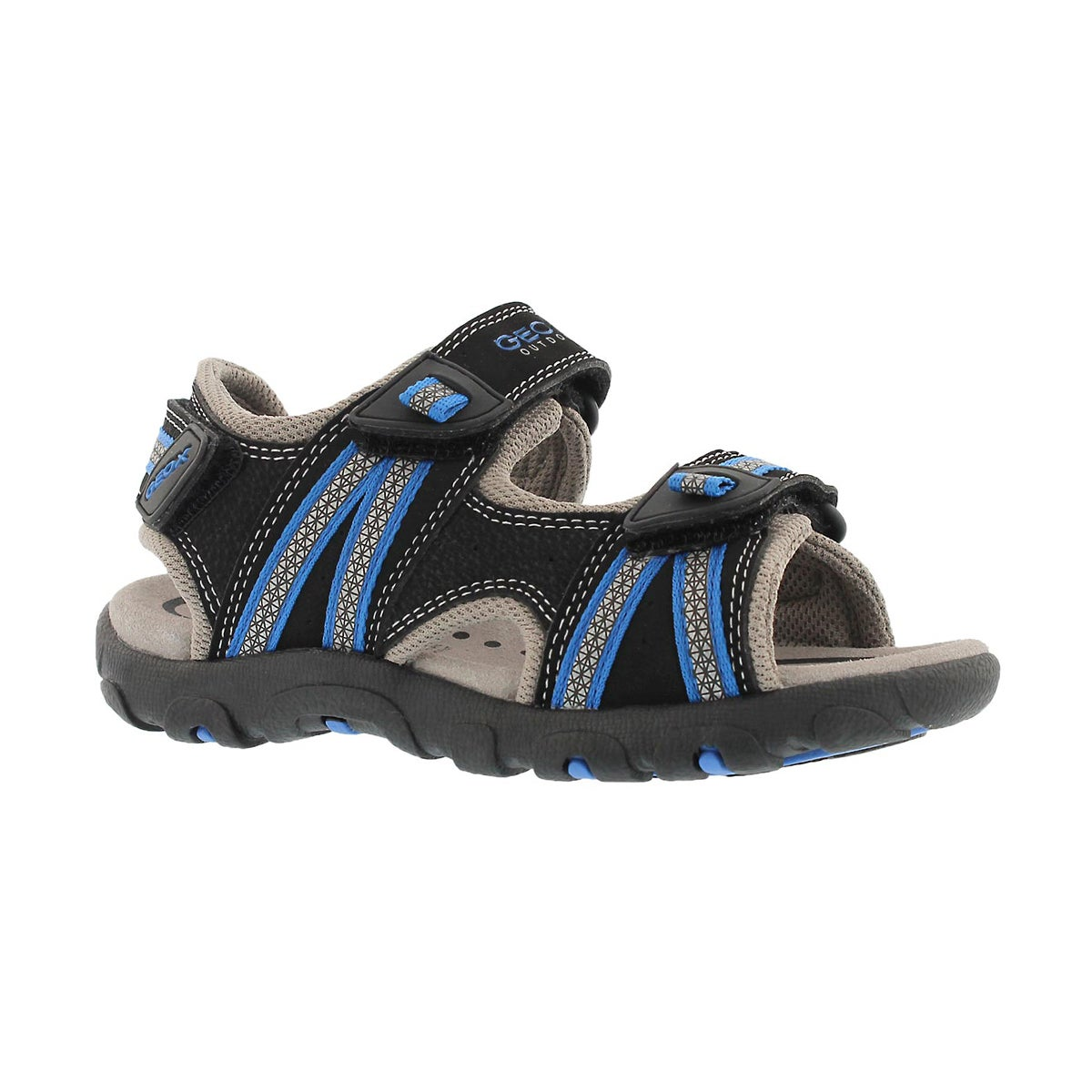 Boys' STRADA black/royal blue sport sandals