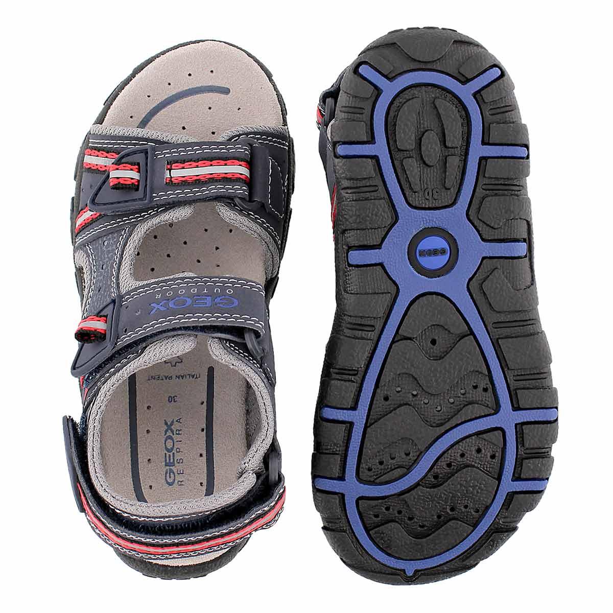 Bys Strada navy/red sport sandal