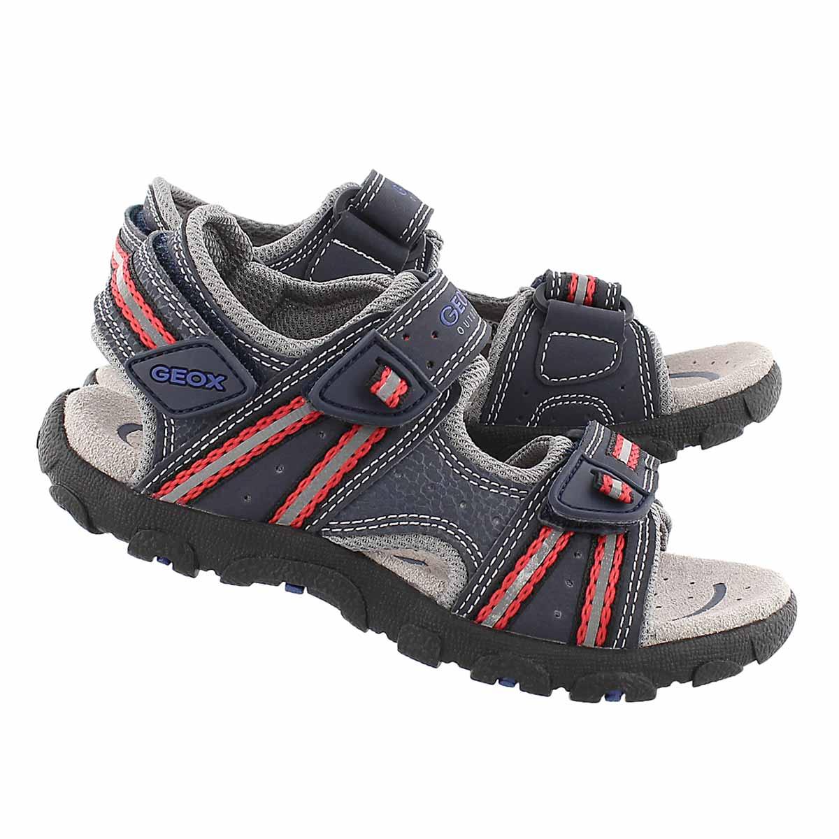 Sandale sport STRADA, marine/rge, garçon