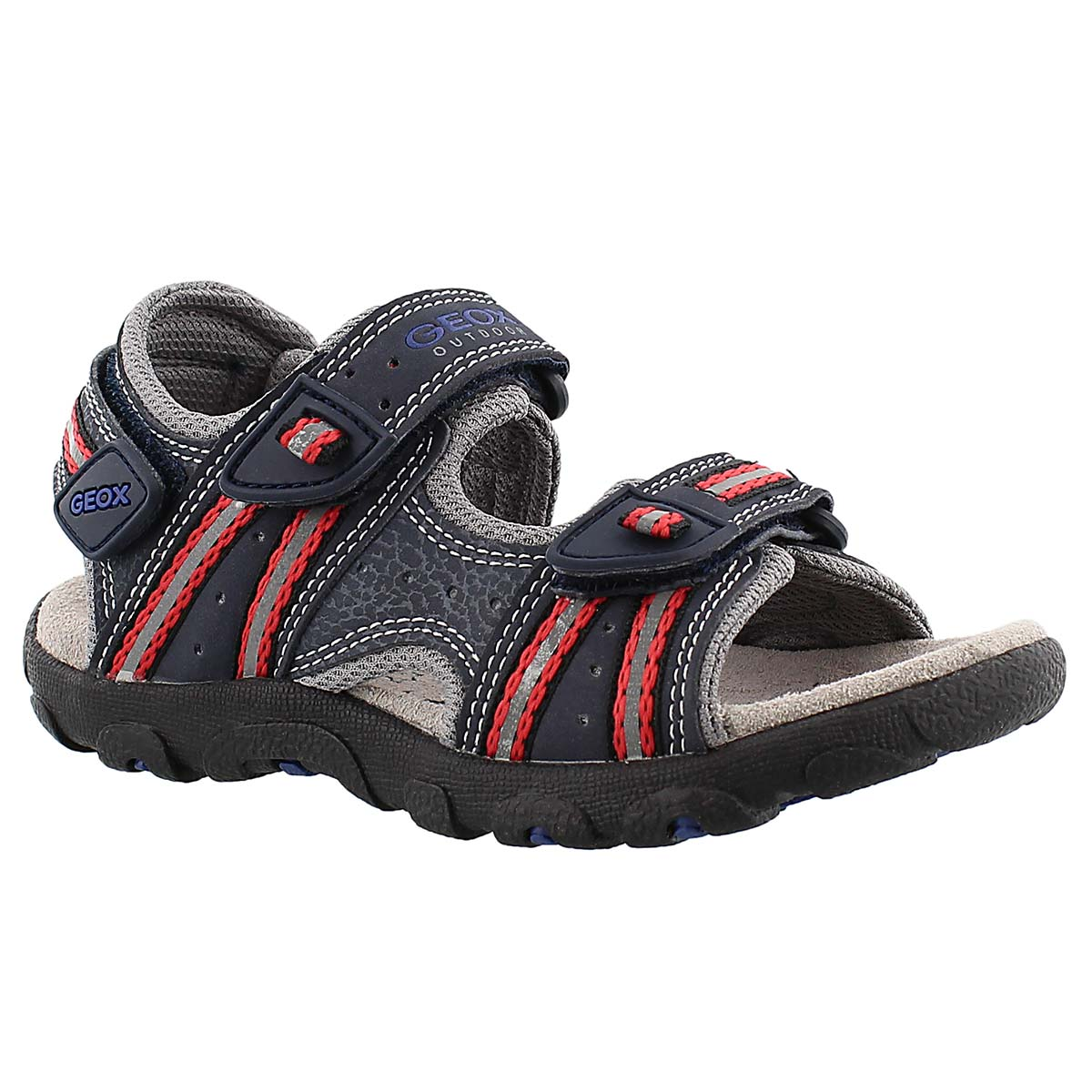 Boys' STRADA navy/red sport sandals