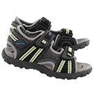 Bys Strada blk/lime sport sandal