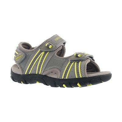 Bys Strada grey/lime green sport sandal