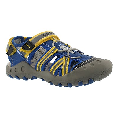 Geox Boys' KYLE blue/yellow fisherman sandals