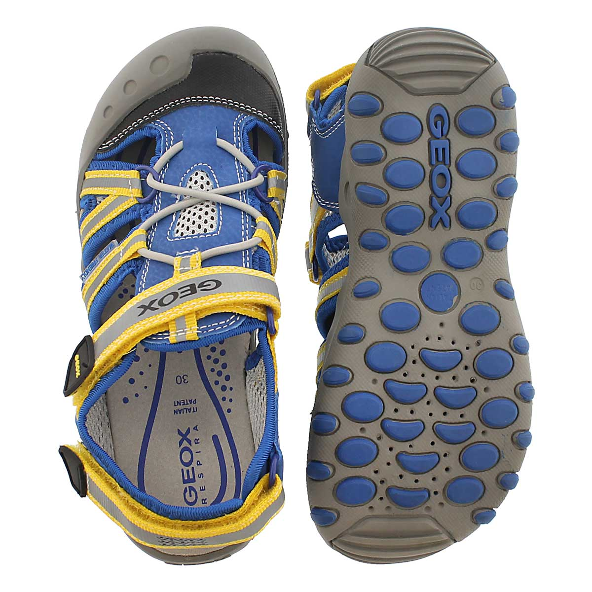 Sandale pêcheur KYLE, bleu/jaune, garçon