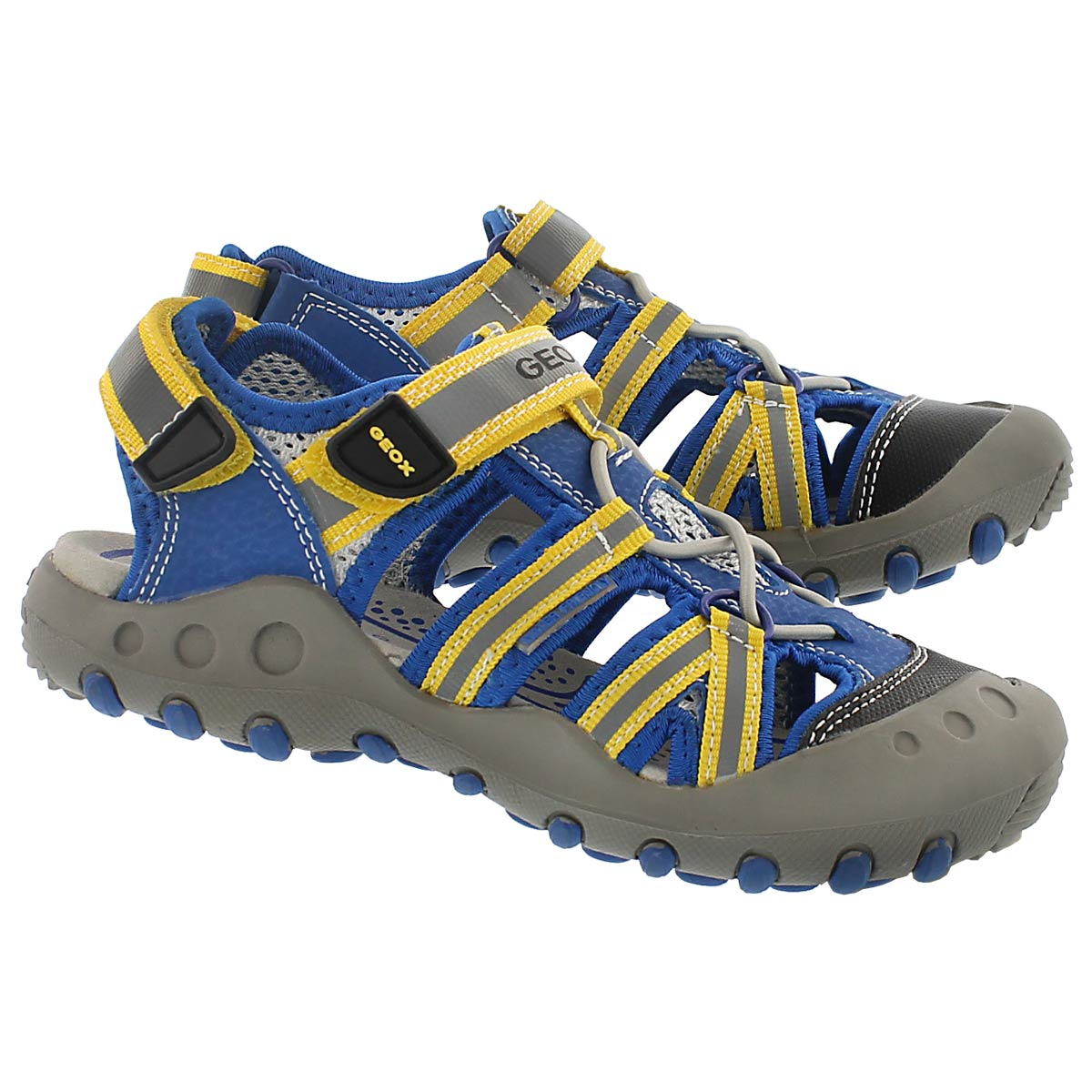 Bys Kyle blue/yellow fisherman sandal