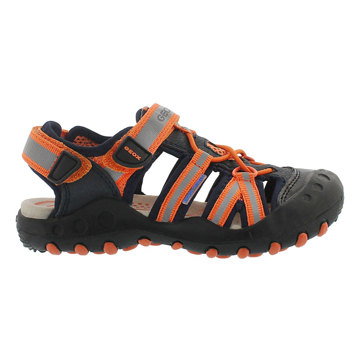 Bys Kyle navy/orange fisherman sandal