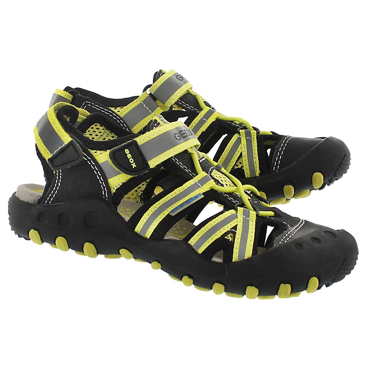 Sandale pêcheur KYLE, noir/lime, garçons