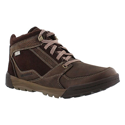 Merrell Men's BERNER MID espresso waterproof hiking boots