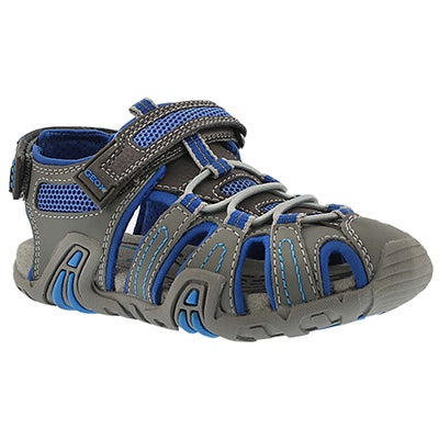 Geox Boys' KRAZE grey/royal fisherman sandals