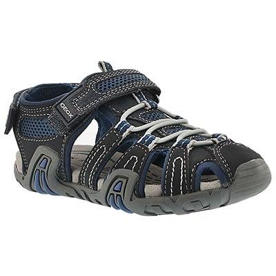 Geox Boys' KRAZE navy/black fisherman sandals