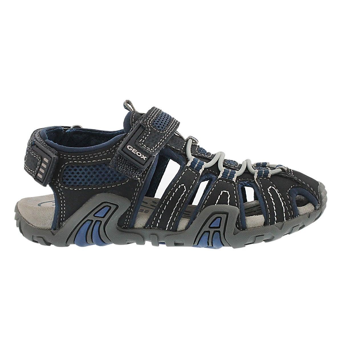 Bys Kraze nvy/blk fisherman sandal