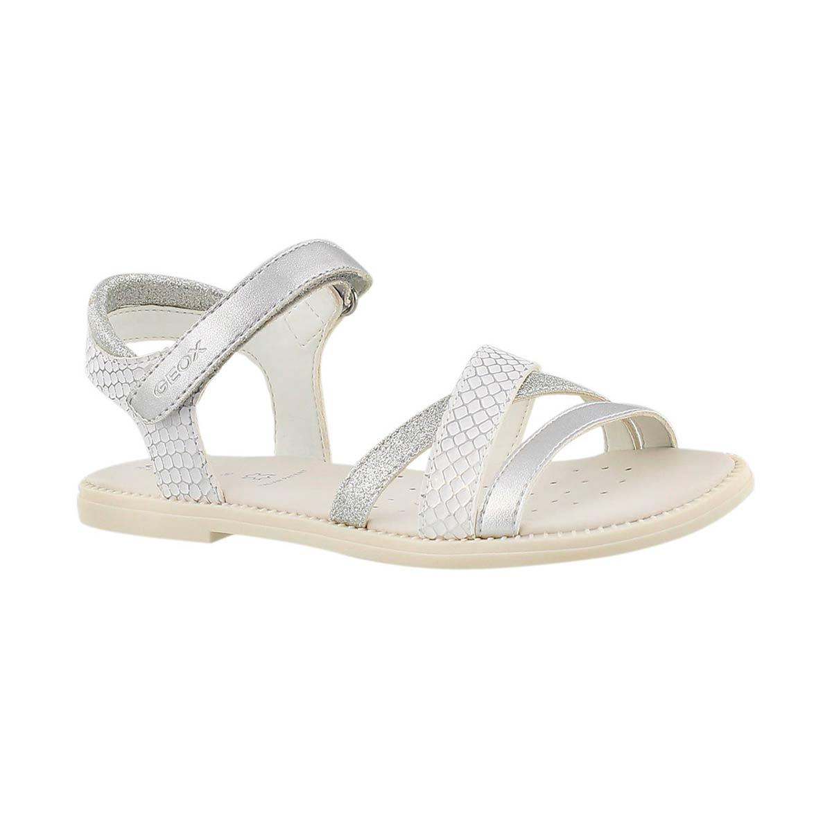 Girls' KARLY white/silver dress sandals