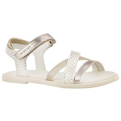 Grls Karly white/gold dress sandal